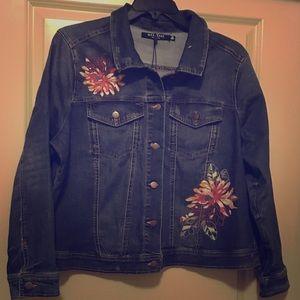 NWT, Max Jeans, Denim Jacket, 1X